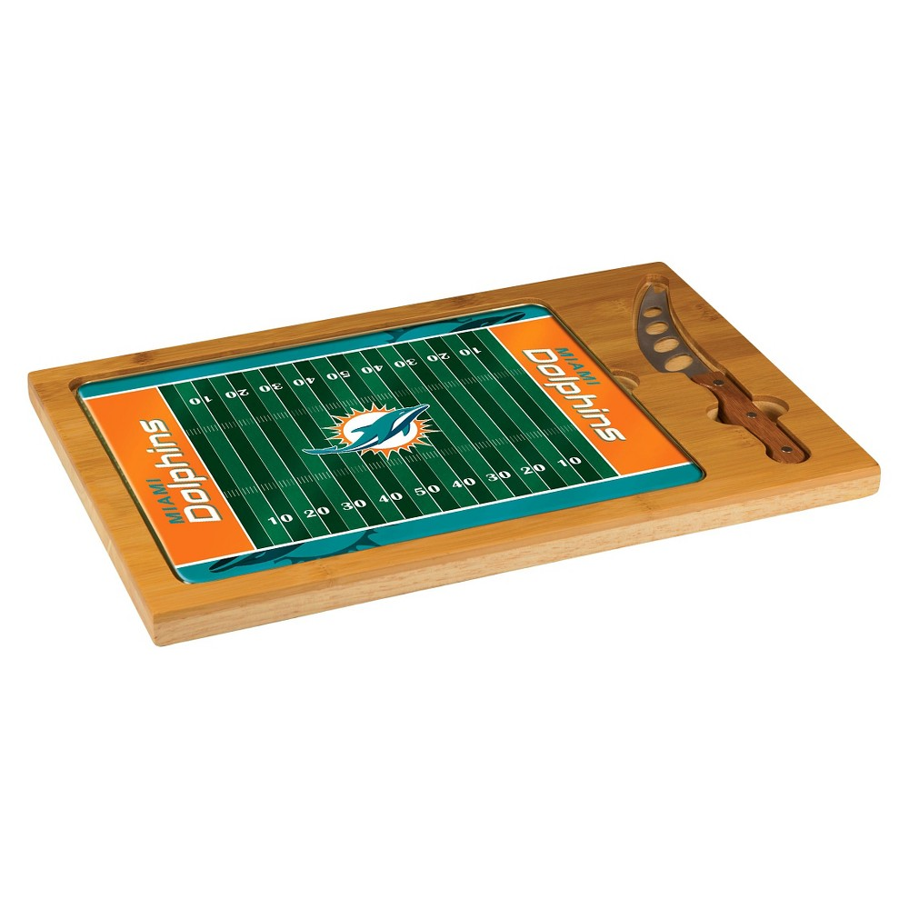 Miami Dolphins Icon Cutting Board Tray And Knife Set By Picnic Time Football Design