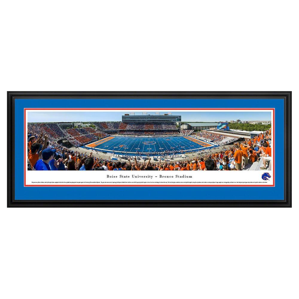 NCAABoise State Broncos BlakewayFootball Stadium View Framed Wall Art, Boise State Broncos