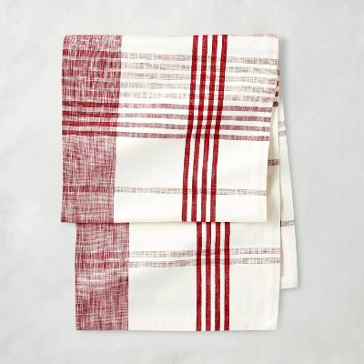 Plaid Table Runner Red/Cream - Hearth & Hand™ with Magnolia