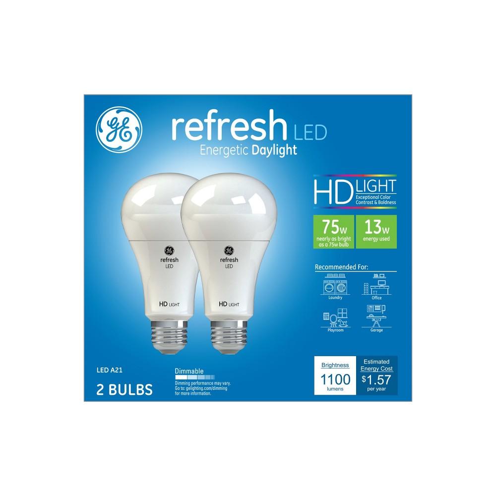 Ge Refresh Light Bulb Led 75W 2pk