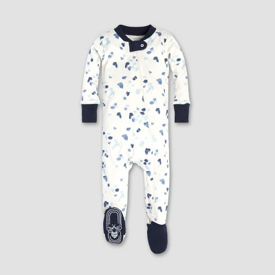 Burt's Bees Baby® Baby Boys' Scattered Glaciers Sleeper - Eggshell 0-3M