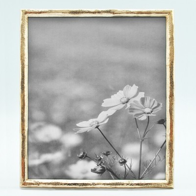 8 X10  Metal Frame Thin Border Prescott Gold - Threshold™