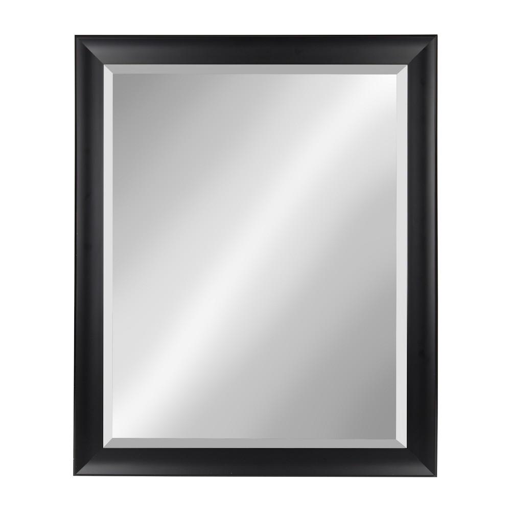 "Image of ""Kate & Laurel 26""""x32"""" Scoop Framed Beveled Decorative Wall Mirror Black"""