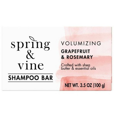 Spring & Vine Grapefruit & Rosemary Volumizing Shampoo Bar - 3.5oz