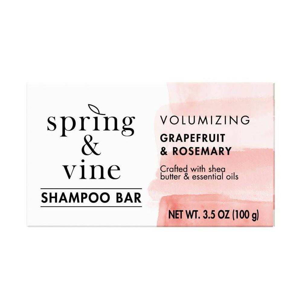 Image of Spring & Vine Grapefruit & Rosemary Volumizing Shampoo Bar - 3.5oz