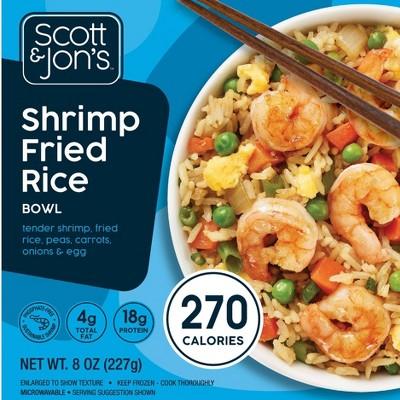 Scott & Jon's Frozen Shrimp Fried Rice Bowl - 8oz