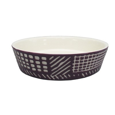 Ceramic Dog Bowl with Carved Pattern - Berry - 2 Cup - Boots & Barkley™