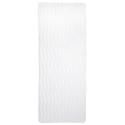 Wave Memory Foam Extra Long Bath Mat White - Yorkshire Home