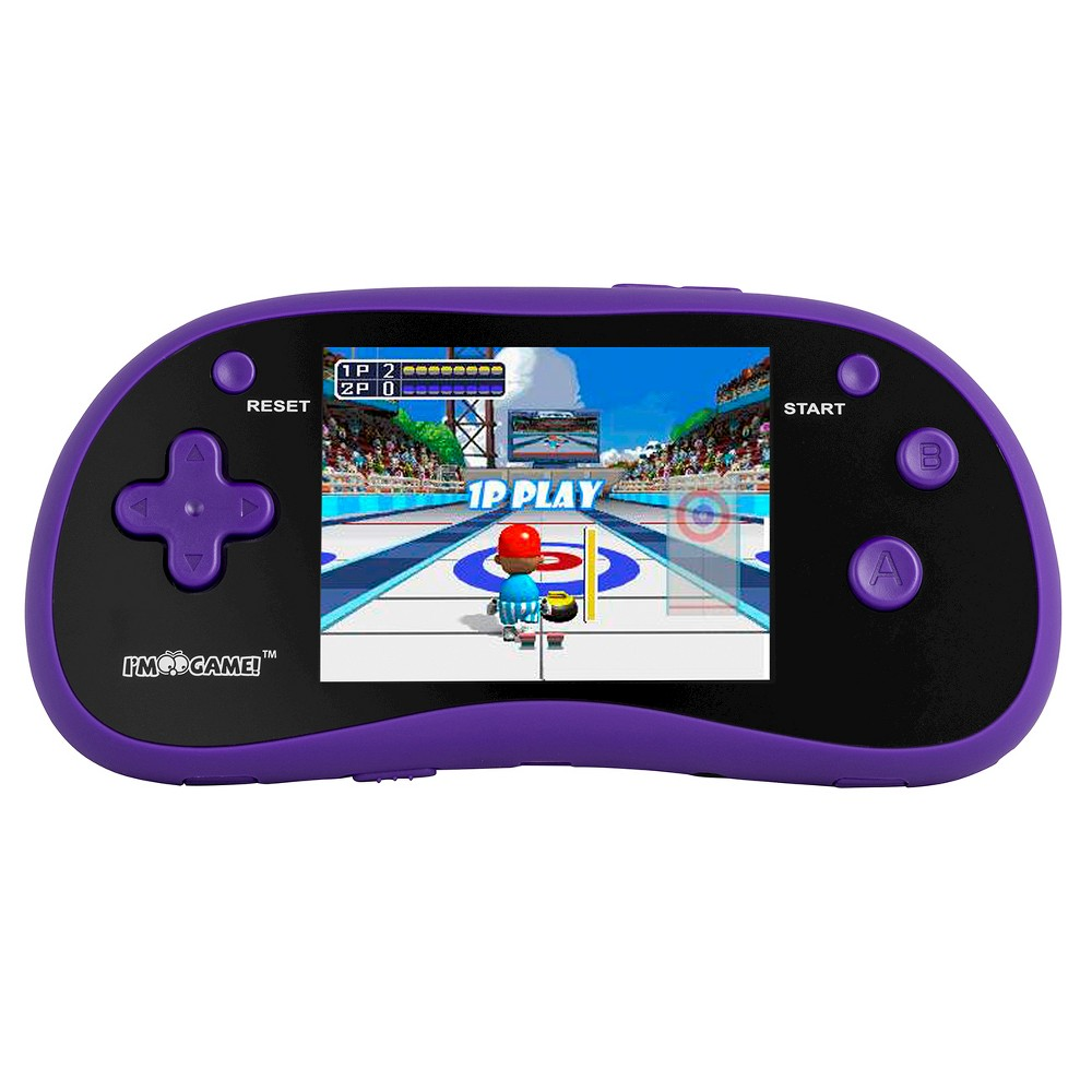 I'm Game GP180 Handheld Game Player - Purple Your budding gamer, ages 6 years and up, will have hours of fun with this I'm Game electronic game. Gender: unisex.