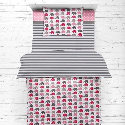 Bacati - Elephants Pink/Fuschia/Gray 4 pc Toddler Bedding Set