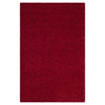 4'x6' Reedley Solid Loomed Area Rug Red - Safavieh