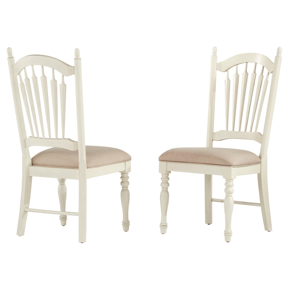 Meadow Hills Side Dining Chair Wood/Antique White (Set of 2) - Inspire Q