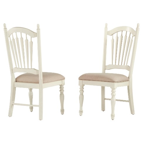 About this item - Meadow Hills Side Dining Chair Wood/Antique White (Set Of 2