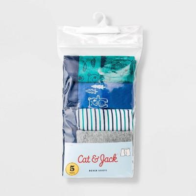 Toddler Boys' 5pk Bear Boxer Briefs - Cat & Jack™ Blue 2T-3T