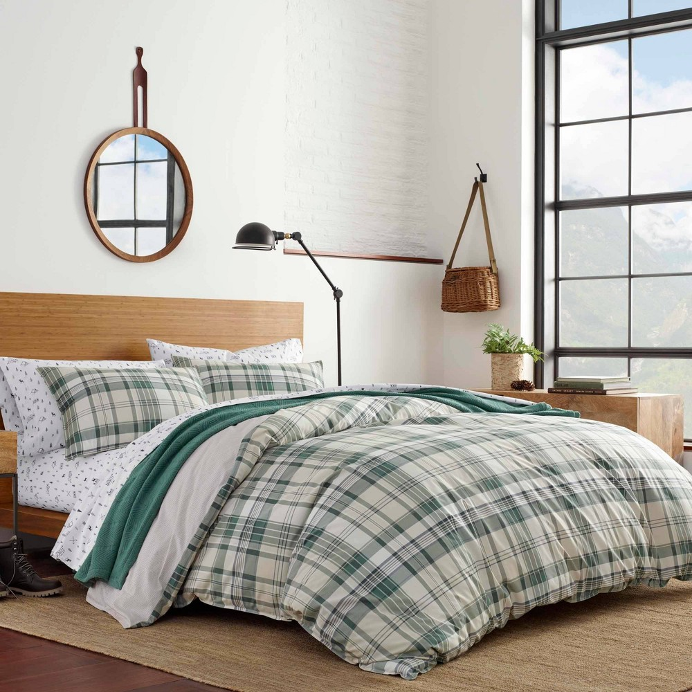 Image of Eddie Bauer Twin Timbers Comforter & Sham Set Green