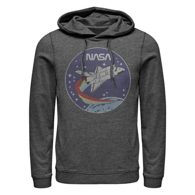 Men's NASA Space Rocket Pull Over Hoodie