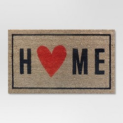 "Home with the Heart Typography Doormat 1'6""x2'6"" - Room Essentials™"