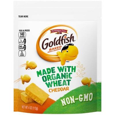 Goldfish Made with Organic Wheat Cheddar Crackers - 4oz.