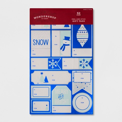 52ct Peel & Stick Blue Accent Gift Tag Set - Wondershop™ - image 1 of 1