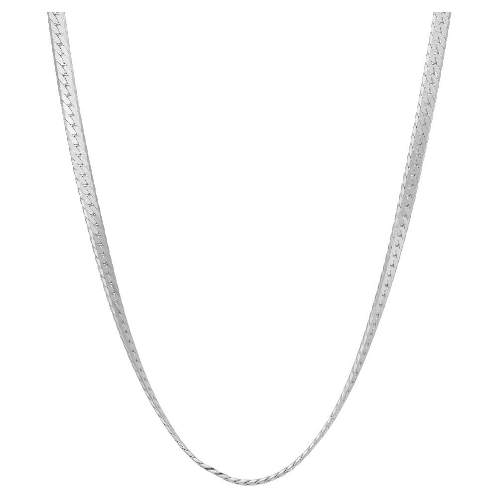 Tiara Sterling Silver 20 Herringbone Chain Necklace, Size: 20 inch, White