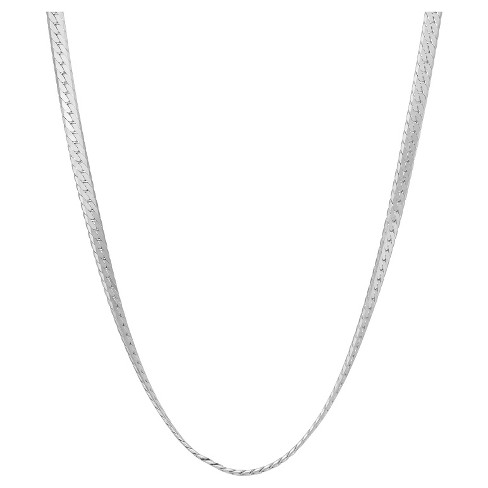 Tiara Sterling Silver Herringbone Chain Necklace - image 1 of 1