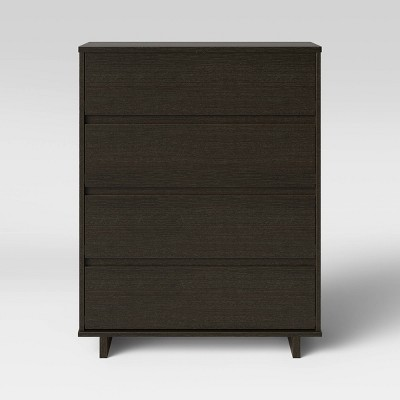Modern 4 Drawer Dresser Espresso - Room Essentials™