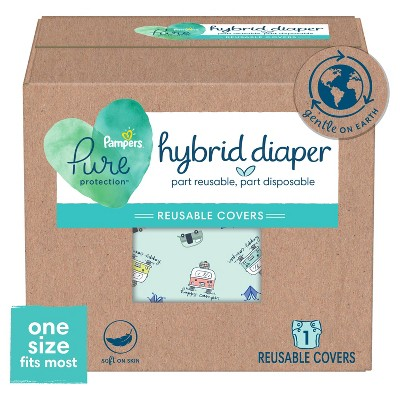 Pampers Hybrid Cover Diaper Happy Camper - One Size - 1ct