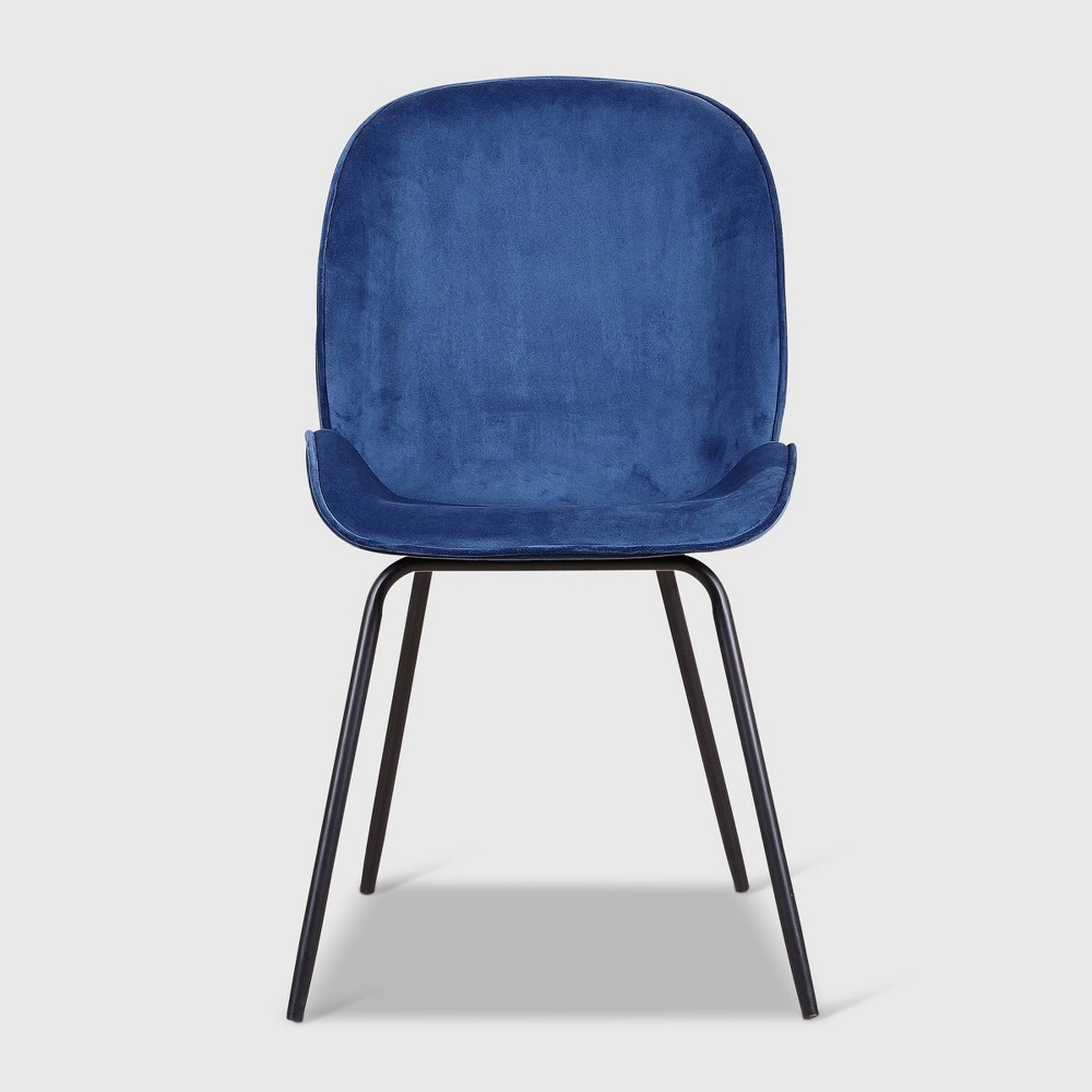 Set Of 2 Powell Upholstered Dining Chairs Blue Rst Brands