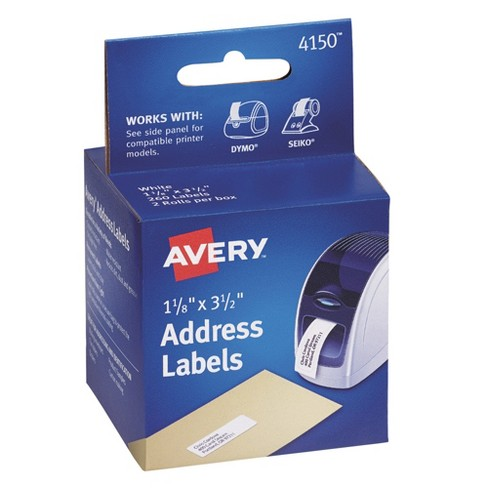 avery thermal printer labels address 1 1 8 x 3 1 2 white 260