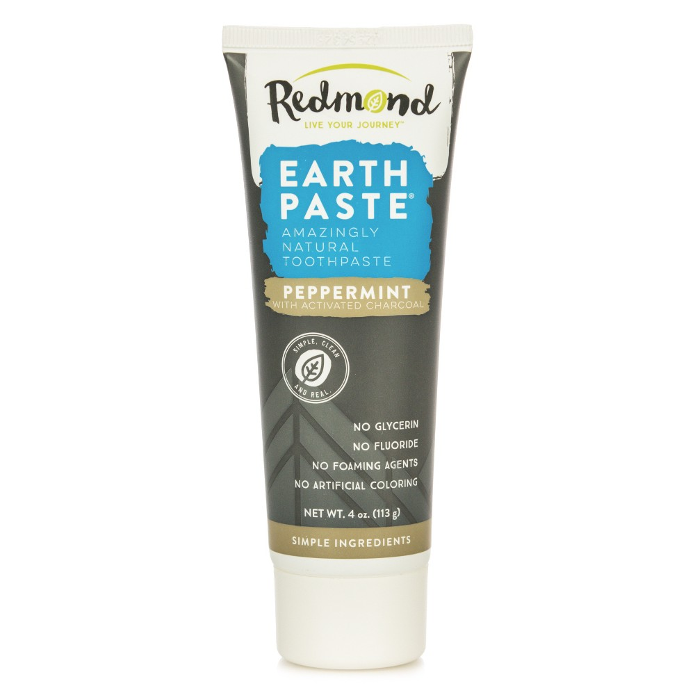 Image of Redmond Earthpaste Peppermint with Activated Charcoal Toothpaste - 4oz