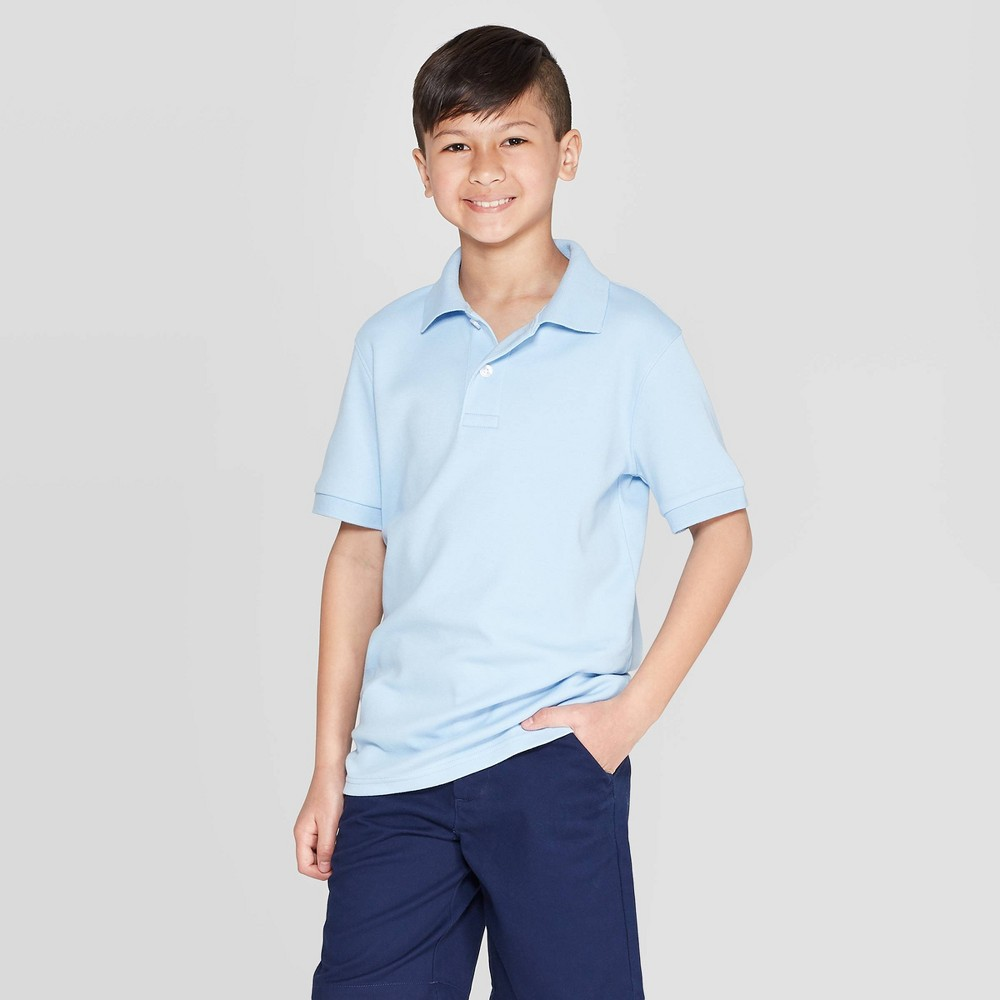 611059c78 Boys Short Sleeve Interlock Uniform Polo Shirt Cat Jack Blue S