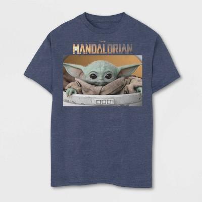 Boys' Short Sleeve Disney The Mandalorian T-Shirt - Navy