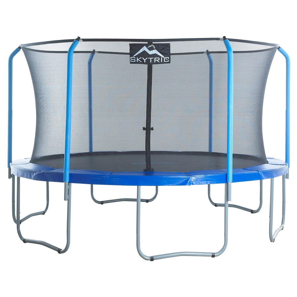 Skytric 15' Trampoline with Top Ring Enclosure System equipped with the