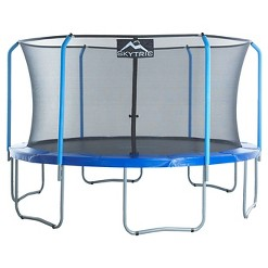 """Skytric 15' Trampoline with Top Ring Enclosure System equipped with the """"Easy Assemble Feature"""""""