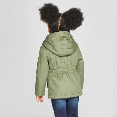 11c70794f Toddler Girls  Military Jacket - Cat   Jack™ Green   Target
