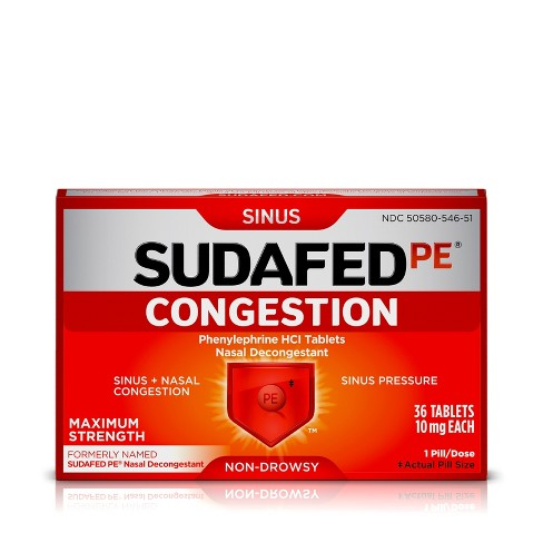 Sudafed PE Sinus Congestion Tablets - 36ct - image 1 of 4