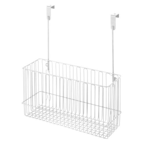 mDesign Metal Hanging Over Cabinet Kitchen Storage Organizer Basket - image 1 of 4