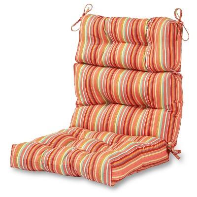 Coastal Stripe Outdoor High Back Chair Cushion - Kensington Garden