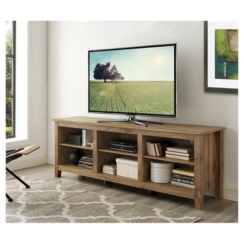 70 Wood Media Tv Stand Storage Console Saracina Home