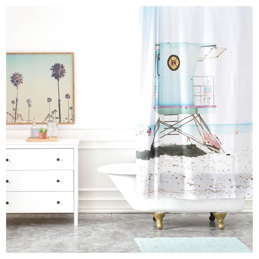 Bree Madden Santa Cruz Summer Shower Curtain Blue - Deny Designs, Multicolored Blue