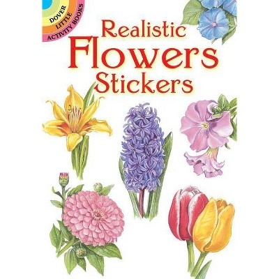 Realistic Flowers Stickers - (Dover Little Activity Books) by  Dot Barlowe (Paperback)