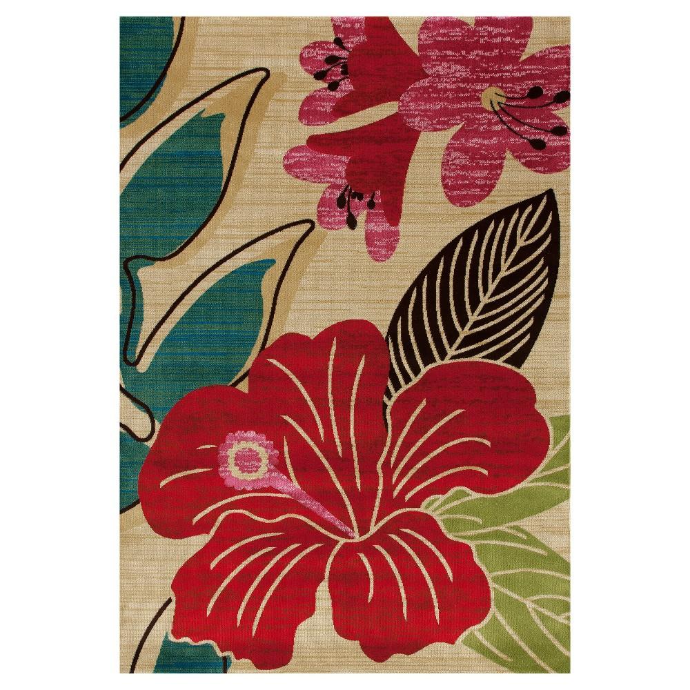 Image of Botanical Woven Area Rug - (7'X9') - Art Carpet