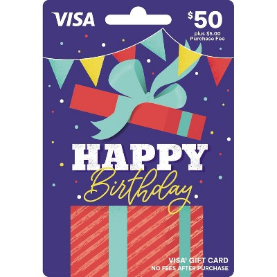 Visa Happy B-Day Gift Card - $50 + $5 Fee