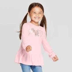 Toddler Girls' Love Cozy Peplum Top - Cat & Jack™ Pink