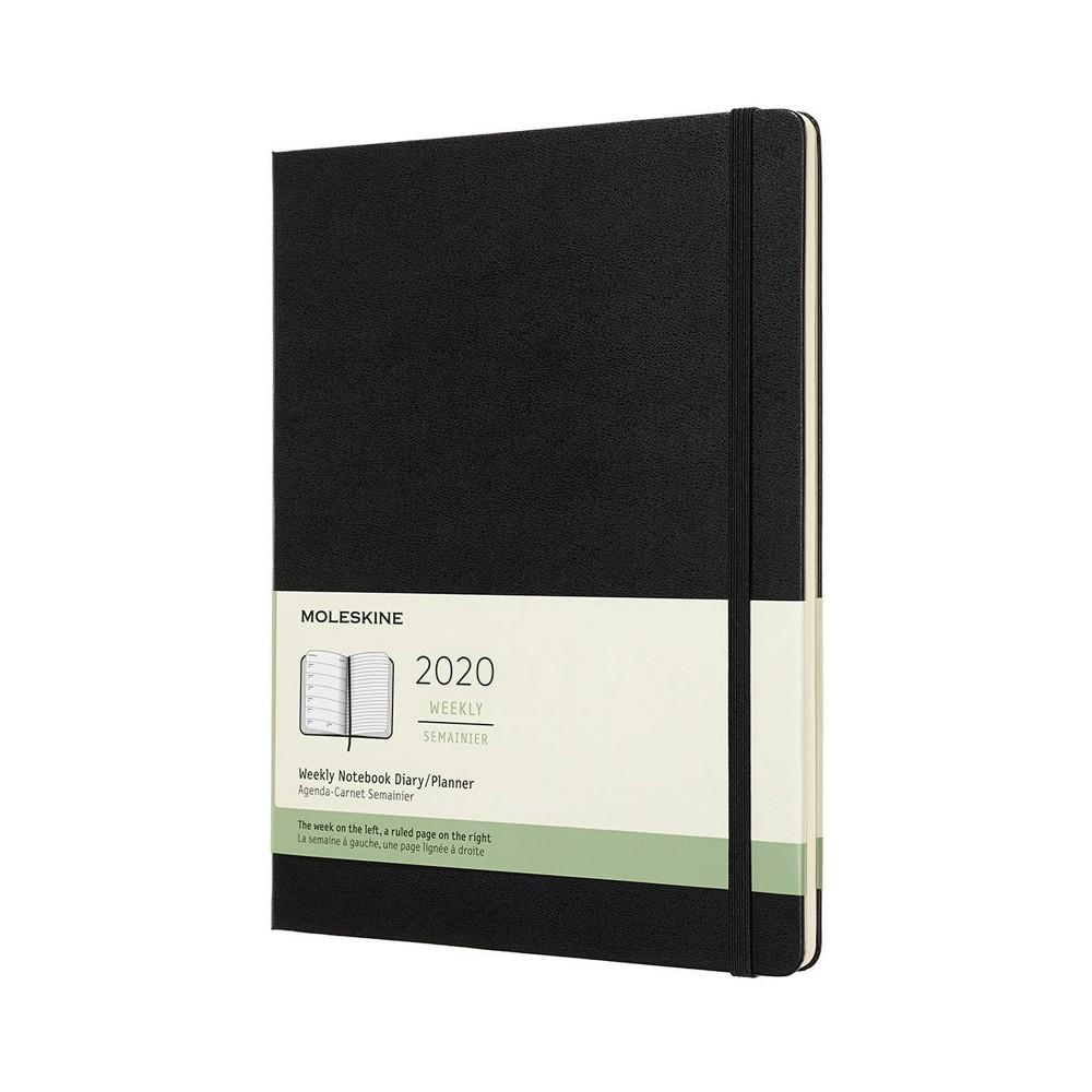 "Image of ""2020 Moleskine XL Planner 7.5""""x 9.75"""" Black"""
