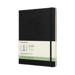 """2020 Moleskine XL Planner 7.5""""x 9.75"""" Black"""