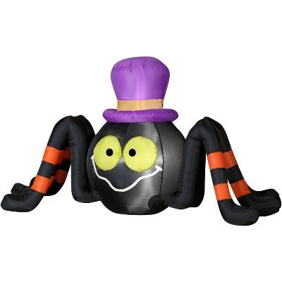 Gemmy Airblown Outdoor Spider w/Top Hat, 2.5 ft Tall, black