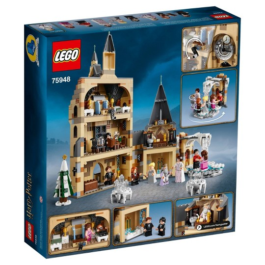 LEGO Harry Potter and The Goblet of Fire Hogwarts Clock Tower Castle Playset with Minifigures 75948 image number null