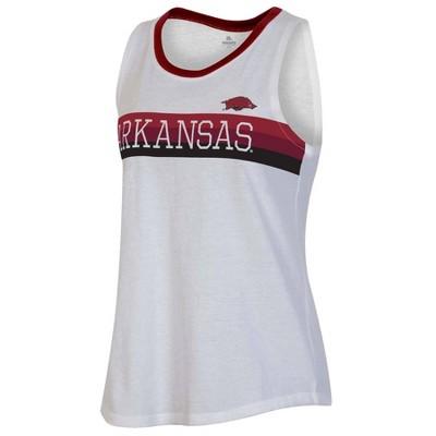 NCAA Arkansas Razorbacks Women's White Tank Top