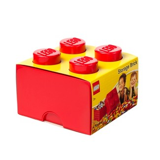 LEGO 4 Brick Storage Case - Red